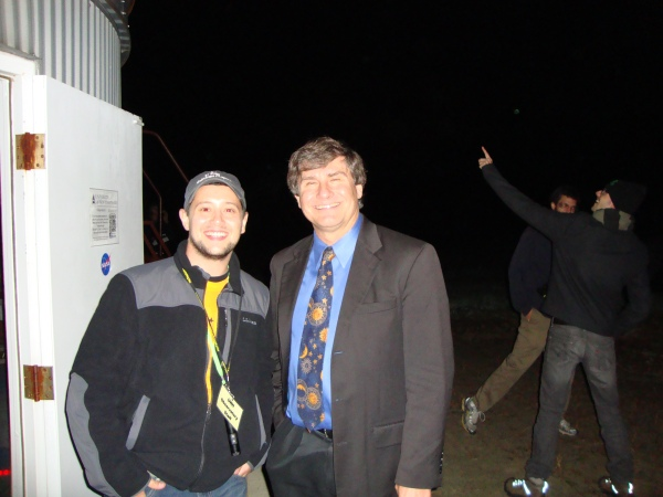 Dr. Alex Fillipenko and I outside the UNH Observatory at the 2012 New England Fall Astronomy Festival.